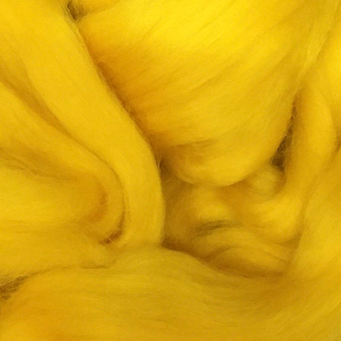 Yellow Corriedale Top 50G