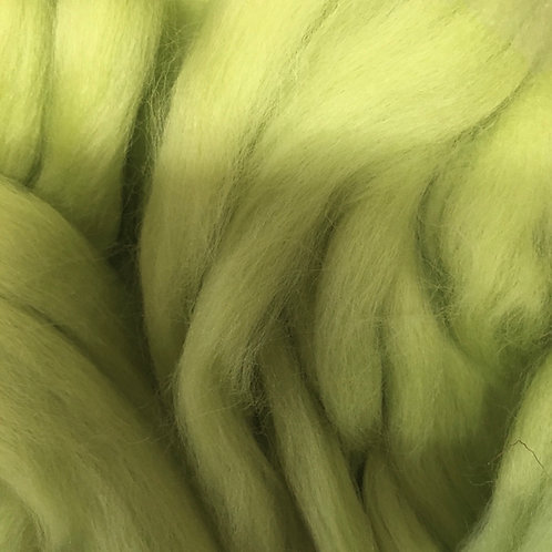 Pastel Green Corriedale Top 50G