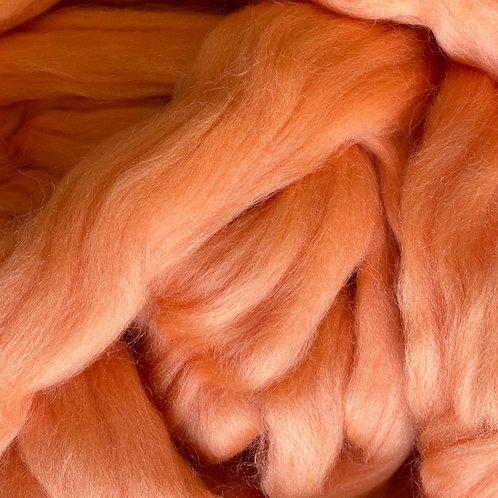 Pastel Orange Corriedale Top 50G
