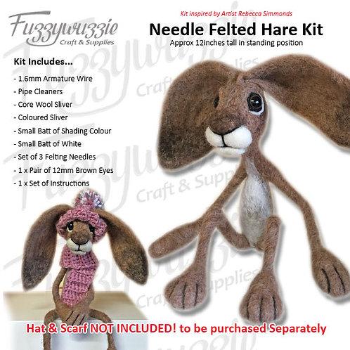 Needle Felted Hare Kit (Skinny).