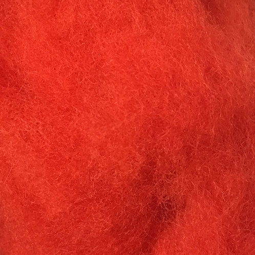 Red/Orange Carded Batt 50g