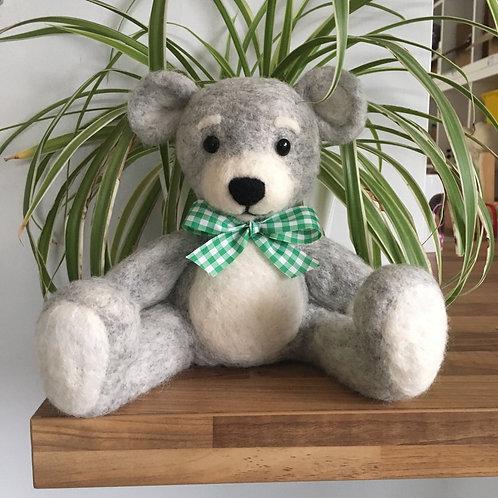 LIGHT GREY TEDDY BEAR