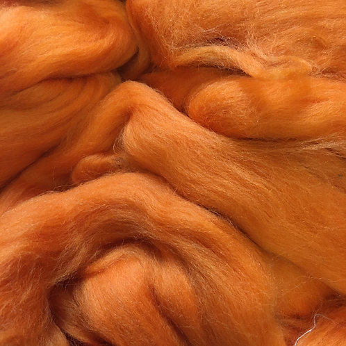 Orange Corriedale Top 50G