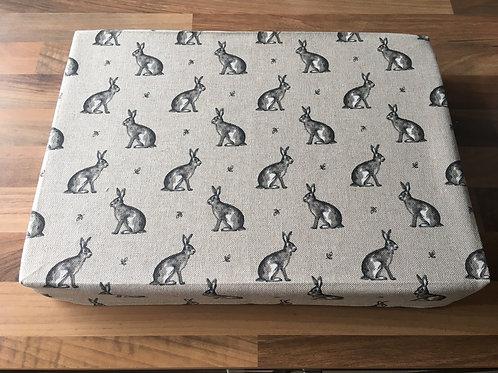 "14"" x 10"" x 2"" Cotton Felting Mat Cover Hares"