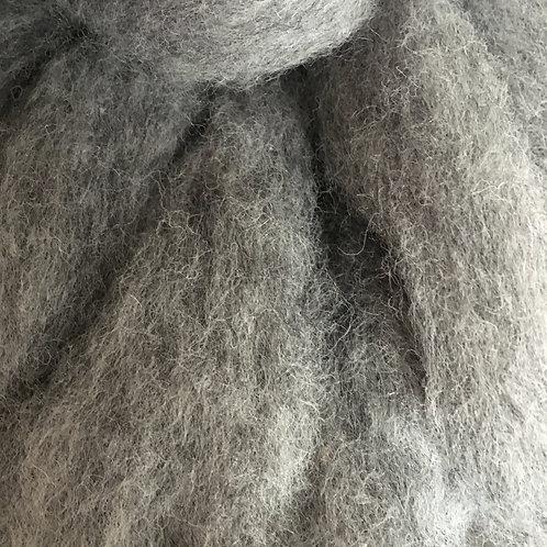 Corriedale Carded Grey Fog Sliver 50g