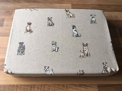 "14"" x 10"" x 2"" Cotton Felting Mat Cover Dogs"