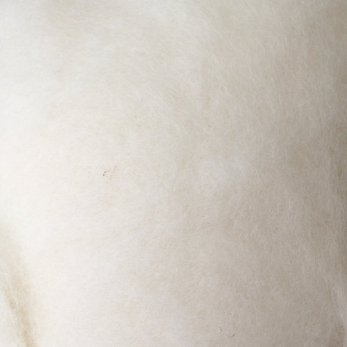 Carded Wool Batt Pearl White 50G