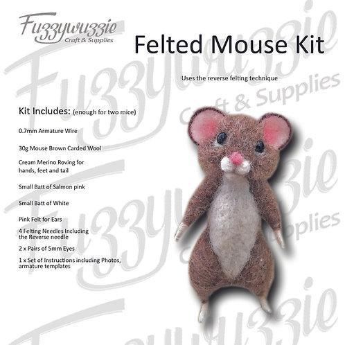 Needle Felted Mouse Kit