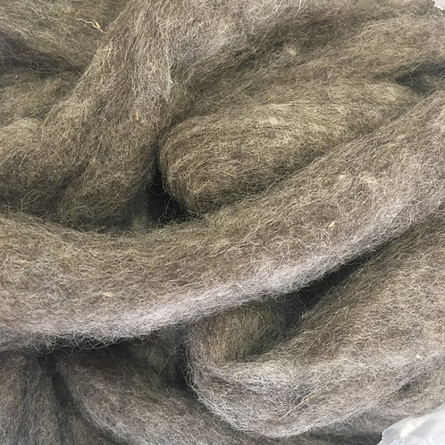 Carded Corriedale Natural Grey Sliver