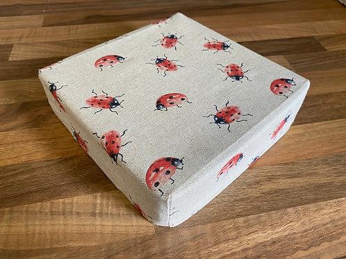 """8"""" x 8"""" x 2"""" Cotton Felting Mat Cover Ladybird"""