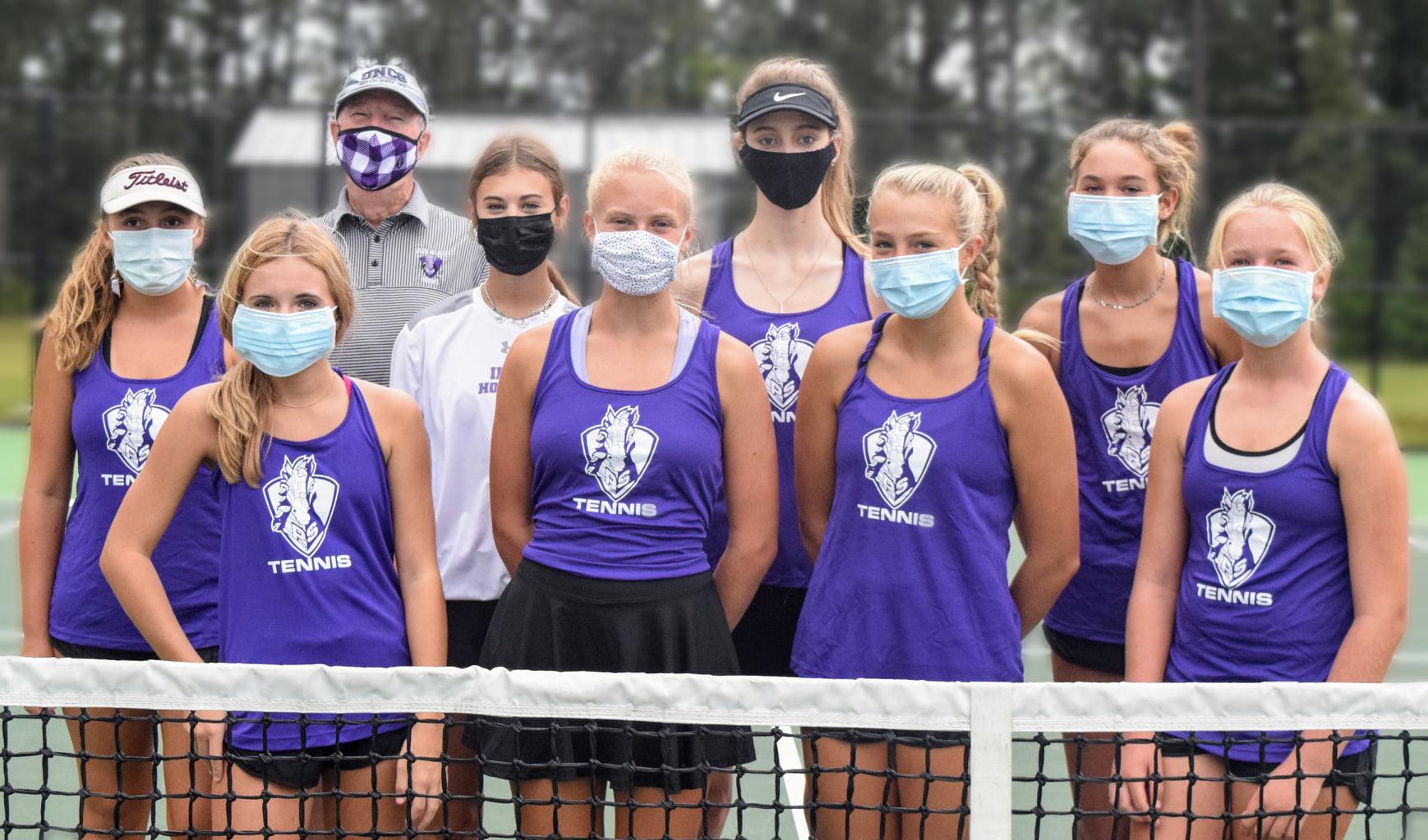 2020 girls iron horse tennis team rocks.