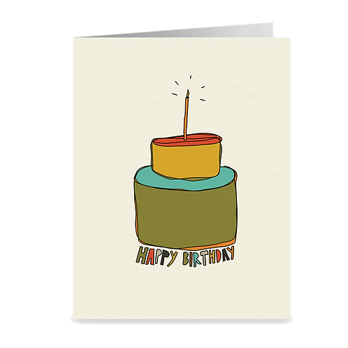 colorful cake birthday card