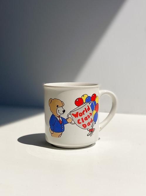 vintage 80s 'world class dad' mug
