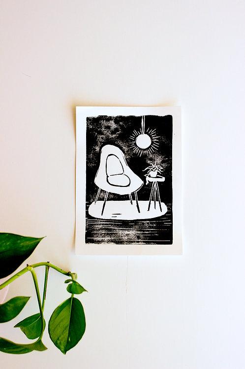 cozy corner - block print