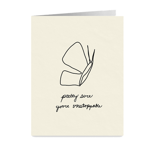 minimalist greeting card - 'unstoppable'