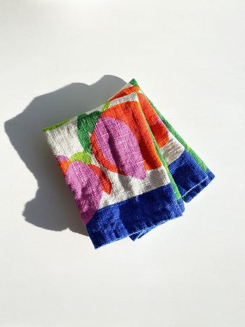 mod flower tea towels (set of 2)