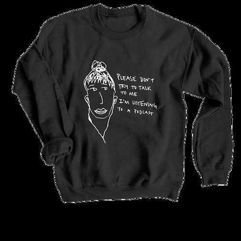 podcast girl crewneck sweatshirt
