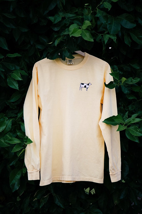 embroidered cow long sleeve