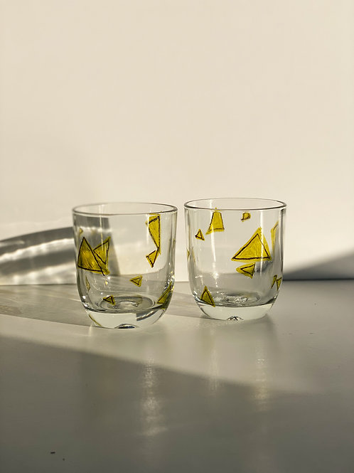 abstract highball glasses