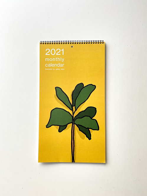 illustrated 2021 wall calendar