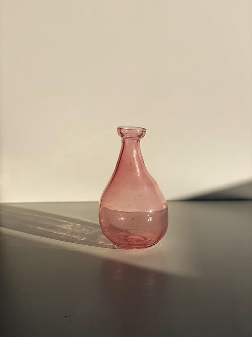 vintage rose single-flower vase
