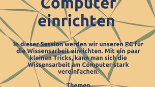 Meinen Computer einrichten