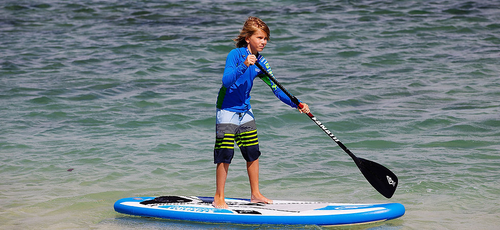 Do your kids love the water?  ​  Then they will love Stand up paddling. Get them started right with our SUP for Kids course. We will cover basic strokes, stance, board control, and safety while building confidence and having fun exploring the water.  For children 6 to 14 years old.
