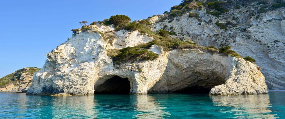Stand Up Paddle Sea-Caves-On-Marathonisi