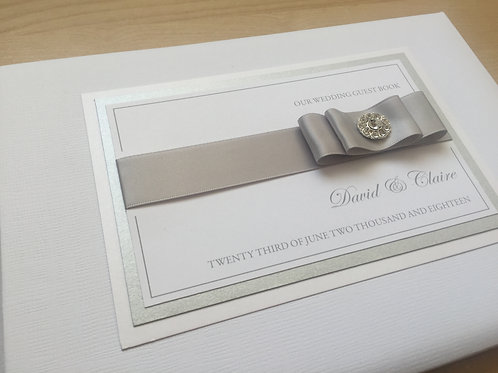 White/Silver Personalised Guest Book