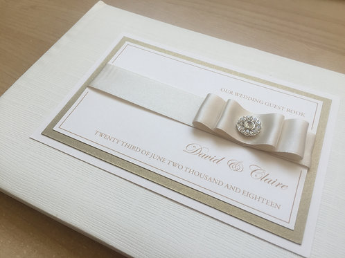 Ivory/Gold Personalised Guest Book