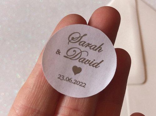 Italic Style Personalised Stickers (Pk 20)