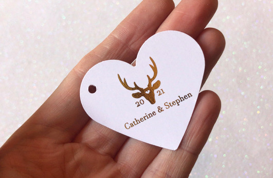 Stag Heart Tag