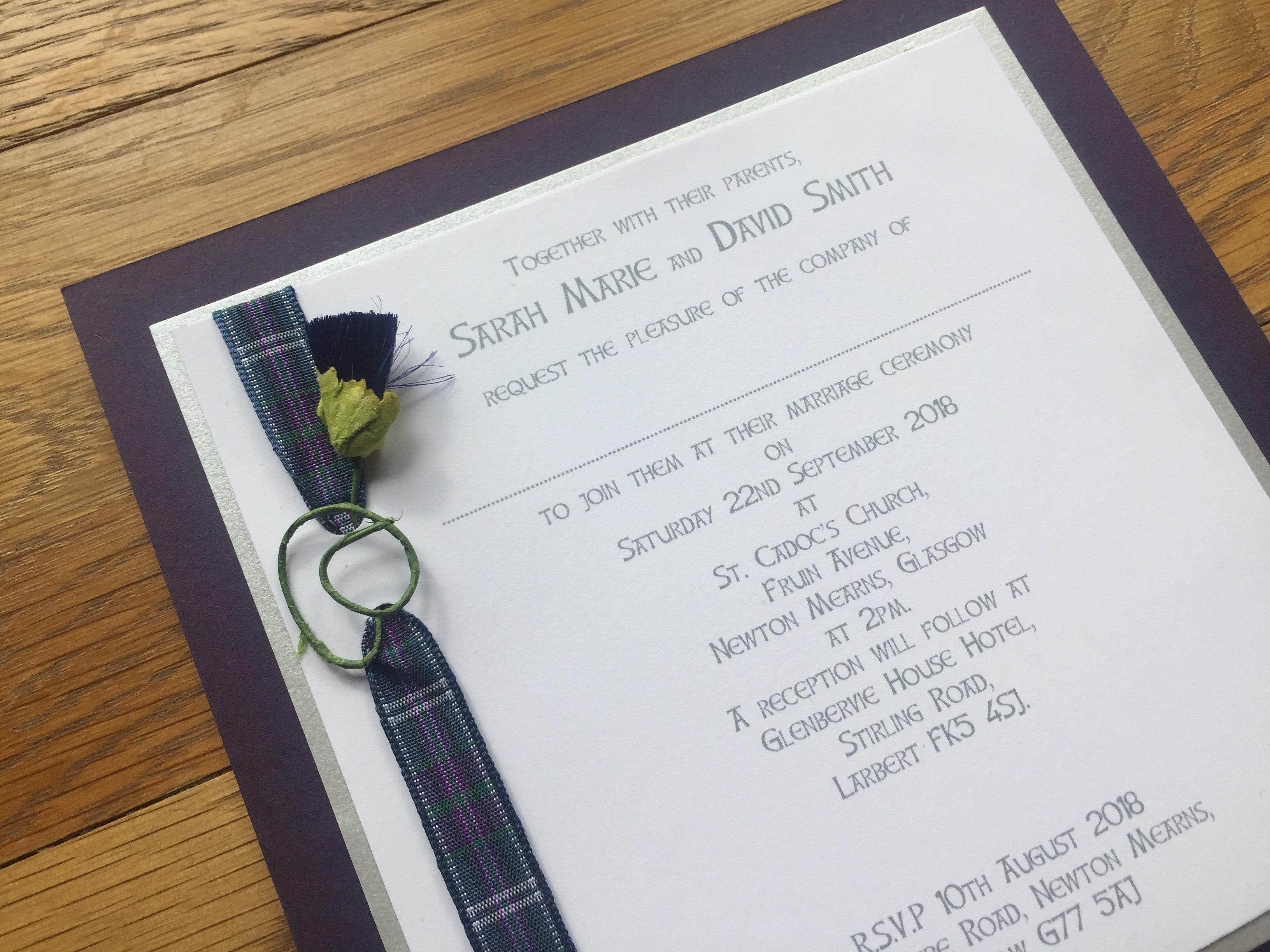 Wedding Stationery by Jennifer, Glasgow. Bespoke Wedding Stationery ...