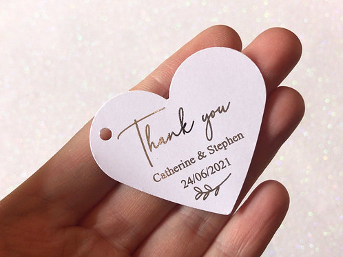 Foilage Style Favour Tags (pack of 10)