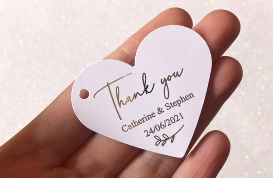 Silver Foilage Heart Thank you Tag.JPG
