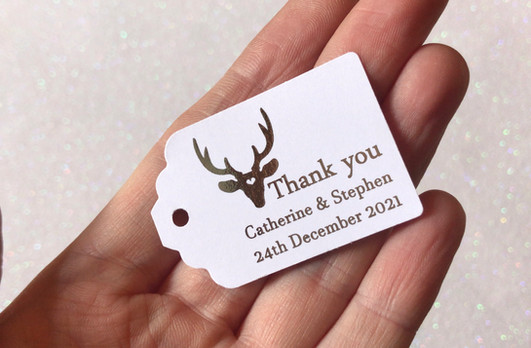 Stag Thank you Tag