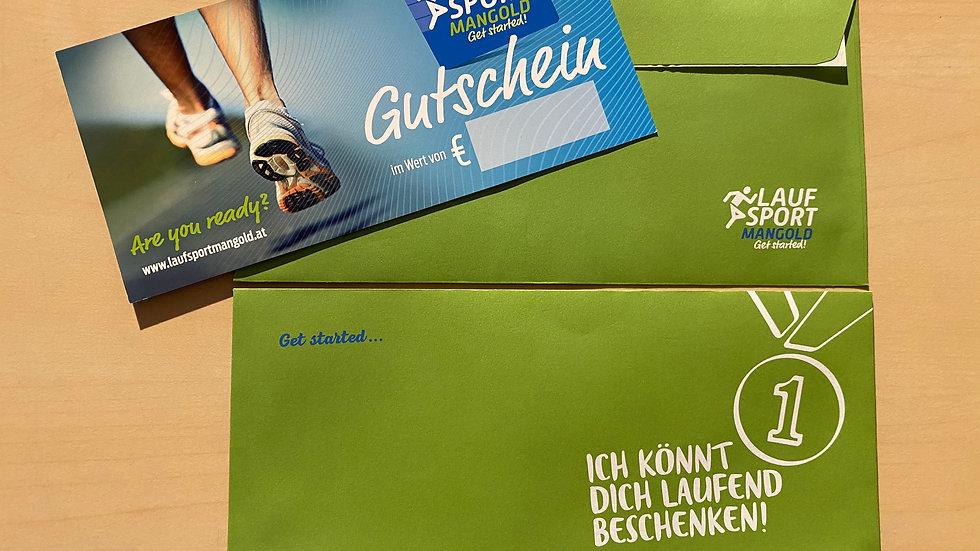 """150,- Gutschein inkl. """"grünen Widmungskuvert"""" und Versand"""