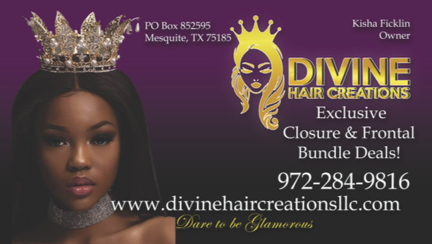 Divine Hair Biz Card
