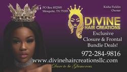 Divine Hair Biz Card