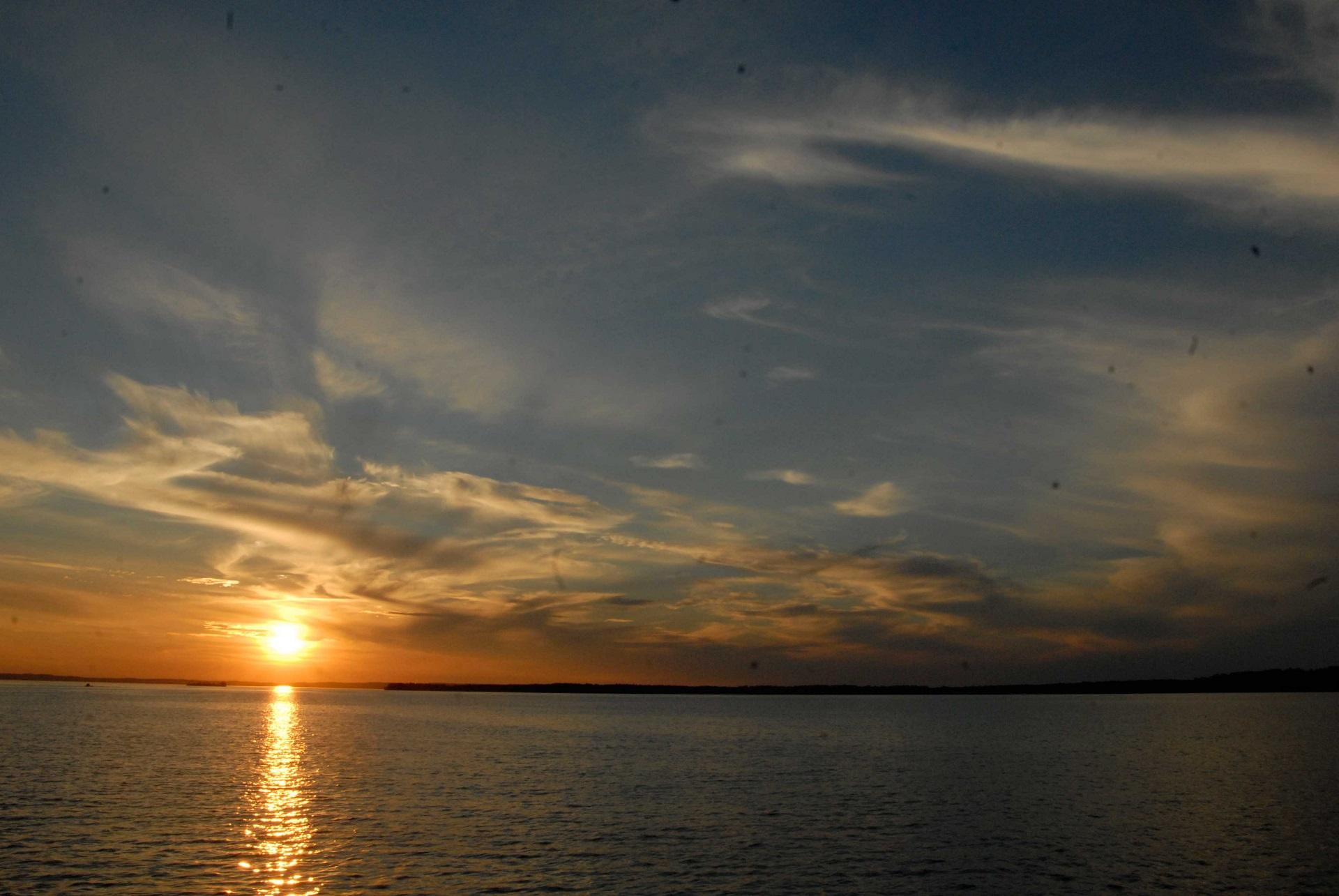 Solnedgång vättern