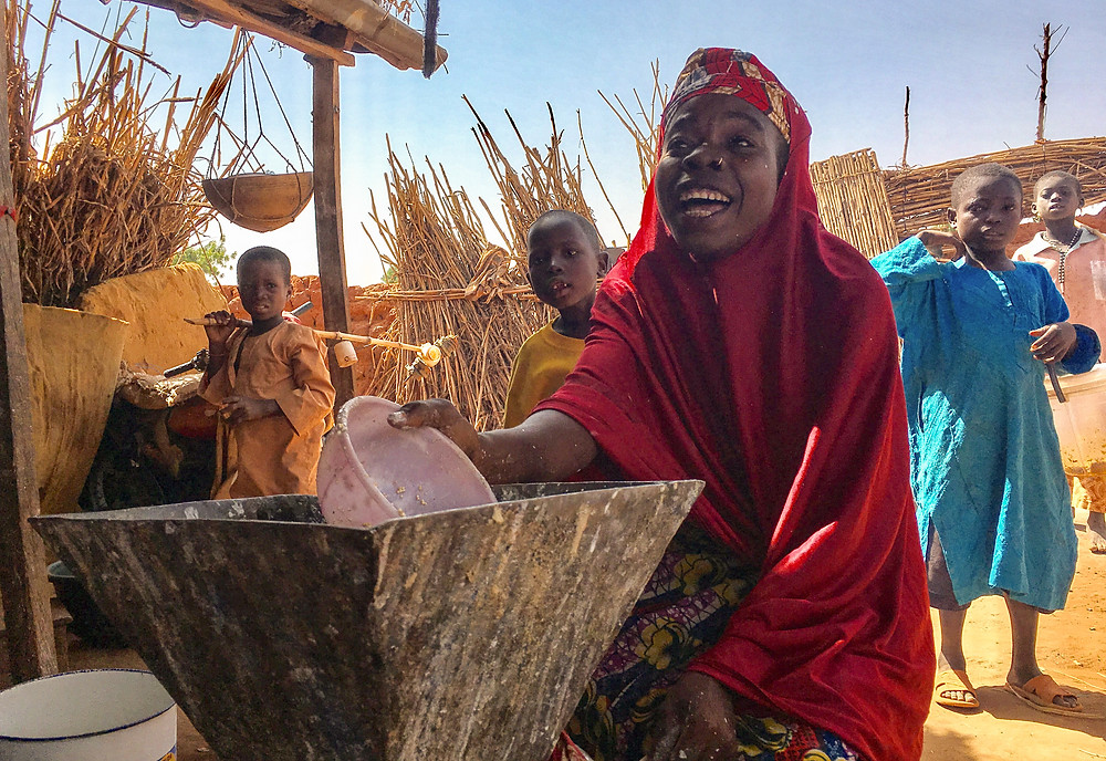 Hassan purchased a mill to help support her family