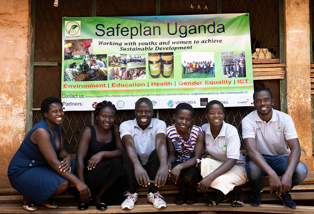 Safeplan Uganda is a female and youth-led organization in Nyantonzi working with youth and women to achieve sustainable development. Credit: Olivia Graziano/USAID