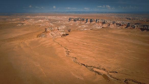 Canyon à côté d'une réserve amerindienne