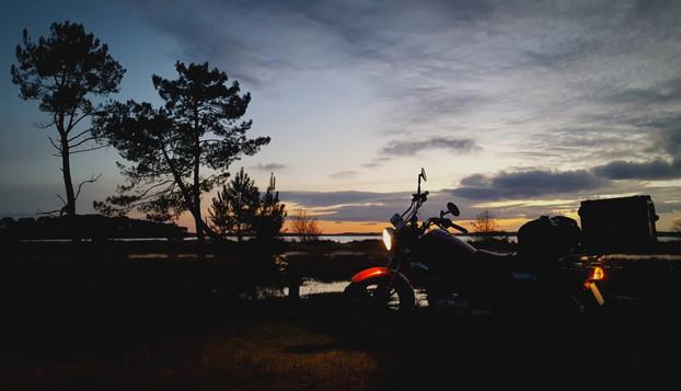 Campement à Lacanau