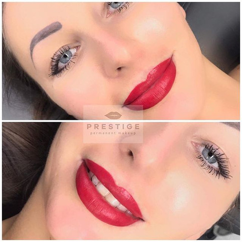 Permanentný makeup plnovytieňovaných pier, po vyhojení pery zblednú o polovicu #permanentmakeup #lips #slovakgirl #prestige_pmu