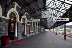The Dunedin Railway Station is empty at 10.15 in the morning..jpg