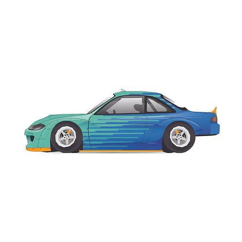 s14.5 drift Nissan mini sticker