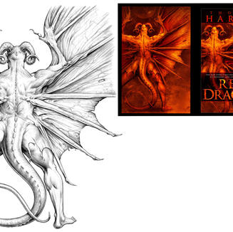 RED DRAGON (pencil for cover)
