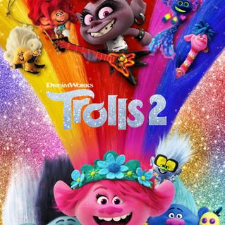 """Novos mundos musicais de """"Trolls 2"""" são destaque em novo cartaz da animação"""