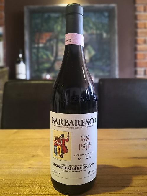 1996 Produttori dei Barbaresco, Paje Riserva, Itálie, Toskánsko